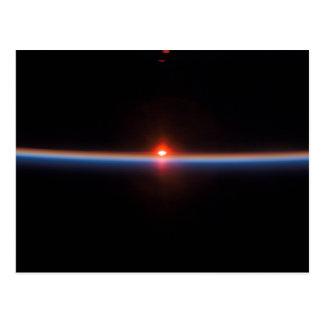 Der Horizont der Erde Postkarte