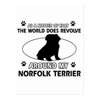 Der Hund rotiert um mein Norfolk Terrier Postkarte