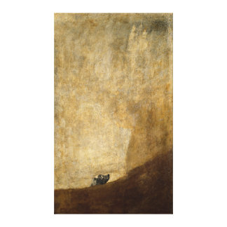 Der Hund (schwarze Malereien) durch Francisco Goya Gespannter Galeriedruck