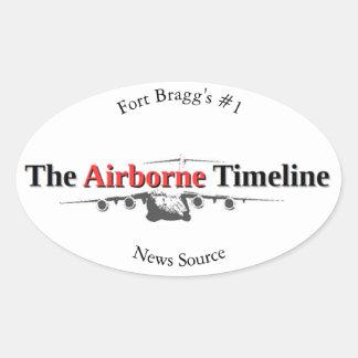 Der im Flugzeug Timeline Ovaler Aufkleber