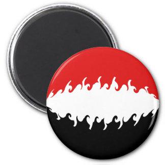Der Jemen-Gnarly Flagge Magnete