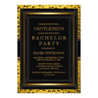 Der Junggeselle-Party der Bier-Herren laden ein 12,7 X 17,8 Cm Einladungskarte