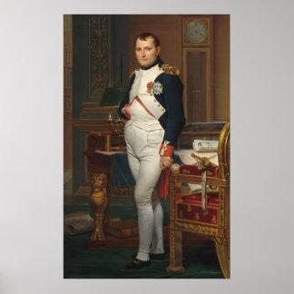 Der Kaiser Napoleon in seiner Studie beim Poster