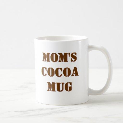 DER KAKAO-TASSE DER MAMMAS, weiße Tasse mit Schoko