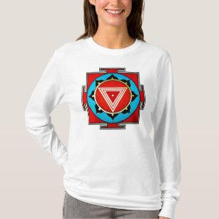 Der Kali Yantra der Frauen Kapuzenpulli T-Shirt