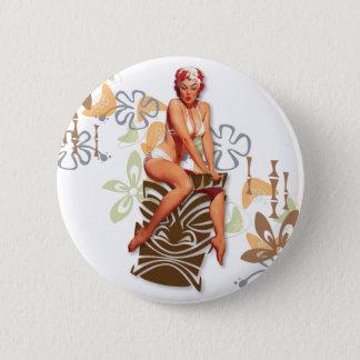Der Kitsch Bitsch: Die Tiki Göttin Runder Button 5,1 Cm