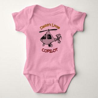 Der kleine Kopilot des Vatis (Hubschrauber) Baby Strampler