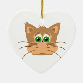 Der Kopf der Katze Keramik Ornament