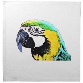 Der Kopf des Papageien Serviette