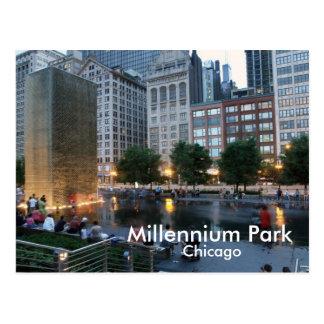 Der Kronen-Brunnen, Jahrtausend-Park, Chicago Postkarte