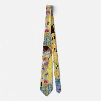 Der Kuss durch Gustav Klimt, Vintage Kunst Nouveau Bedruckte Krawatte
