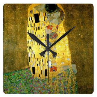 Der Kuss durch Gustav Klimt Wanduhren