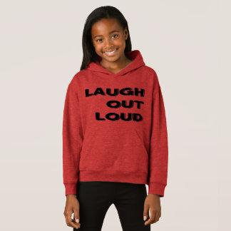 Der Lachen-die Fleece-PulloverHoodie heraus lauten Hoodie