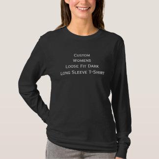 Der lässige lose Sitz-lange Hülsen-Dunkelheit der T-Shirt