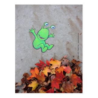 der leafpile Bandit Postkarte