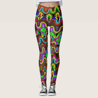 Der Leggin der verrückten psychedelischen Leggings