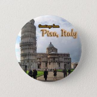 Der lehnende Turm von Pisa, Italien Runder Button 5,7 Cm