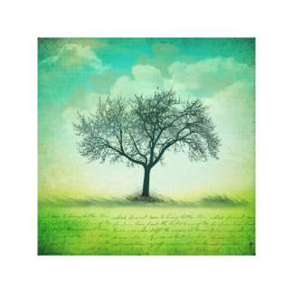 """Der letzte Baum 12"""" X12"""", 1,5"""" wickelte Leinwand"""