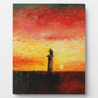 Der Leuchtturm Fotoplatte