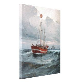 Der Lightship an der Skagen Riff-Malerei Gespannte Galerie Drucke