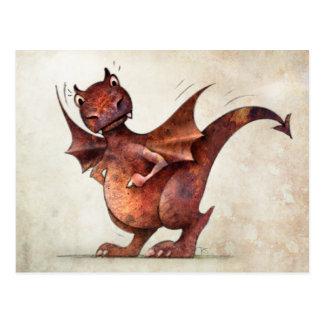 Der lustige kleine Drache des Kindes Postkarte