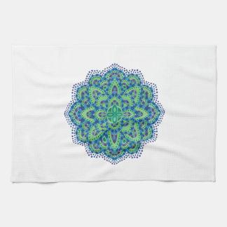 Der Mandala-Coole Smaragd Handtuch
