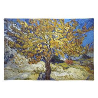 Der Maulbeerbaum, Vincent van Gogh. Vintag Stofftischset
