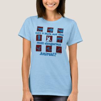 Der meiste gefährliche Tierdamenbabydoll-T - Shirt