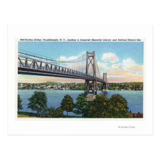 Der Mittler-Hudson Brücke zu Roosevelt-nationalem Postkarte