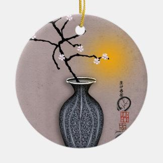 der Mond der tony fernandess und Blüte mit 7 Keramik Ornament