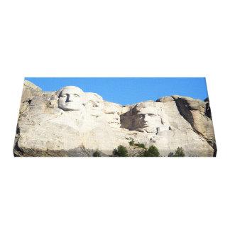 Der Mount Rushmore wickelte Segeltuch ein Leinwanddruck