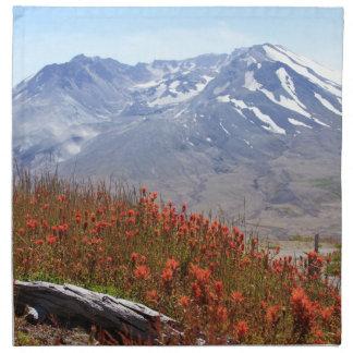 Der Mount- Saint HelensWildblumen Stoffserviette