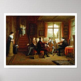 Der Musikunterricht Poster