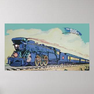 Der New-Jersey zentrale blaue Kometen-Zug Poster