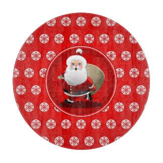 Der niedliche Cartoon Weihnachtsmann-Kinder Schneidebrett