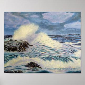 Der Ozean - eine Kraft der Natur Poster
