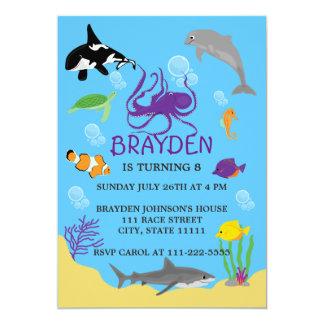 Der Ozean-themenorientierte Geburtstags-Einladung 12,7 X 17,8 Cm Einladungskarte