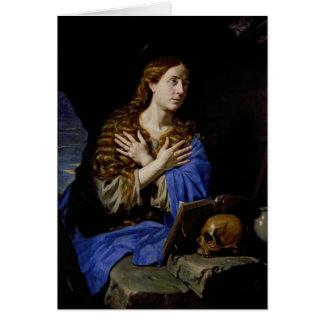 Der Penitent Magdalene, 1657 Grußkarten
