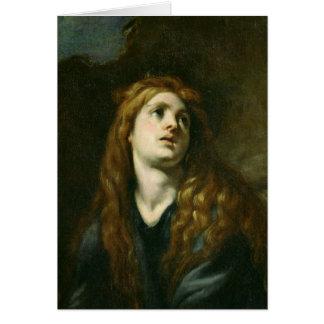Der Penitent Magdalene Grußkarte
