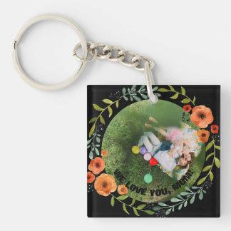 Der personalisierte Tag 2 Blumenmamma-Mutter der Schlüsselanhänger