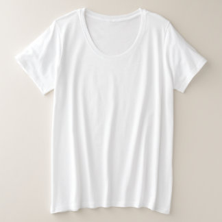 Der Plus-Size-grundlegender T - Shirt der Frauen