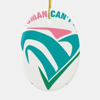 Der Power einer Frauenneigung wird mit berechnet Ovales Keramik Ornament