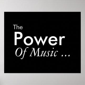 Der Power von Musik Poster