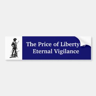 Der Preis der Freiheit ist ewige Wachsamkeit Autoaufkleber