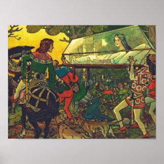 Der Prinz u. der Glassarg, Franz Jüttner Poster
