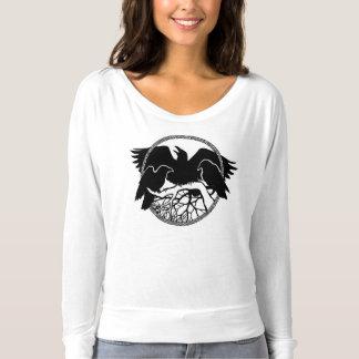 Der Raben-Kunst-Shirt-Dame der Frauen Crow/Raben T-shirt