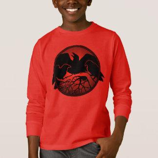 Der Raben-Shirt-Raben-Krähen-Kunst-des Kindes des T-Shirt