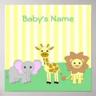 Der Raum-kundengerechtes Plakat des Baby-Tier-Kind