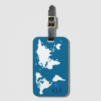 der Reisende, Karte mit personalisierten Initialen Kofferanhänger