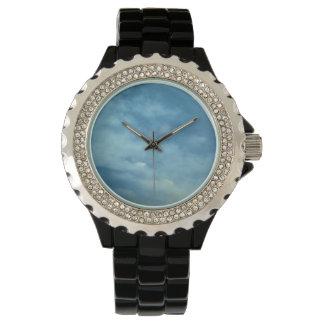 Der Rhinestone-Uhr der Frauen Armbanduhr